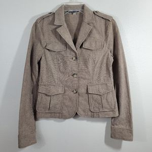 Theory Brown Fitted Military Jacket Blazer Size 6